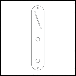 Telecaster Angled Blade Switch Main Control Plate
