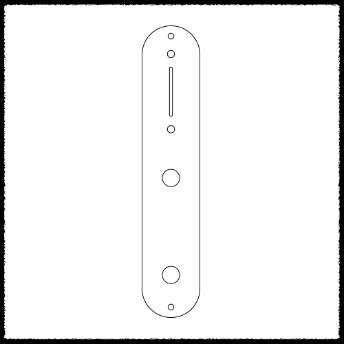 Telecaster Non Cramped Main Control Plate