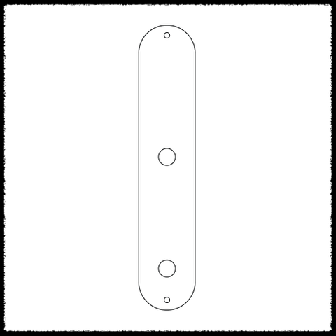 Telecaster Main Control Plate (No Blade Switch)