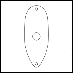 Stratocaster Flat Output Jack Plate