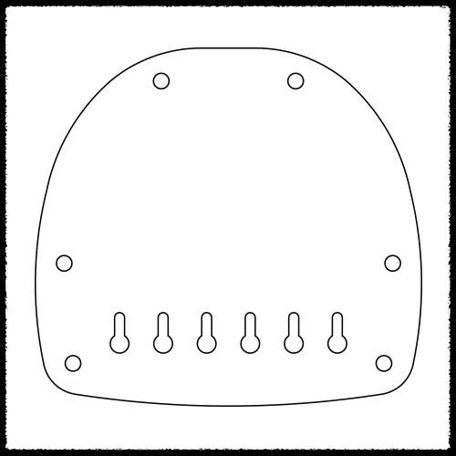 Bass VI Hardtail Plate