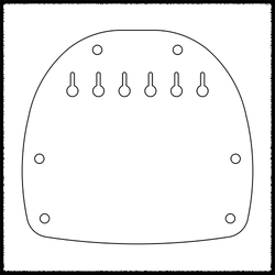 Jazzmaster/Jaguar Hardtail Plate (Steeper Break Angle)