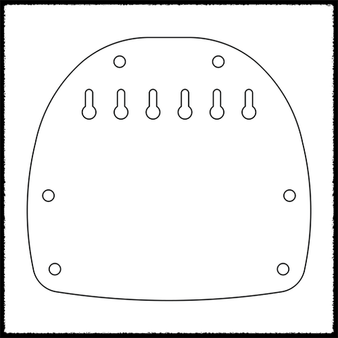 Bass VI Hardtail Plate (Steeper Break Angle)