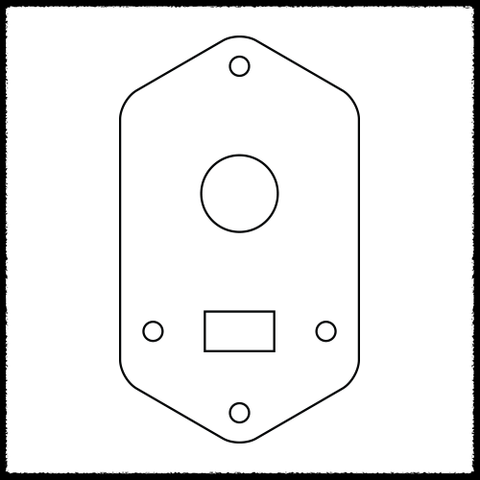 Cobain Jaguar Toggle Switch Plate