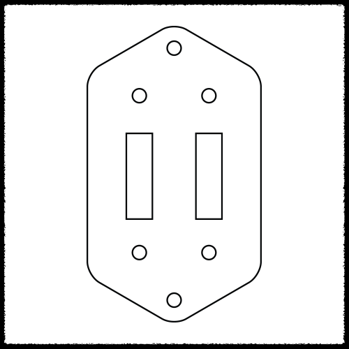 Jaguar Dual 3-Way Slide Switch Plate