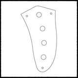 Proportionally Spaced Jaguar 3 Knob Main Control Plate