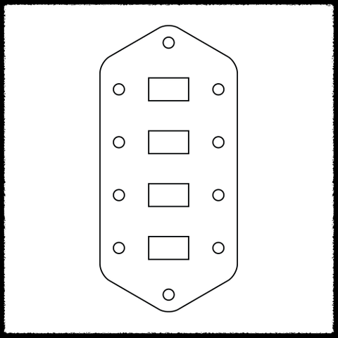 Bass VI Standard Pickup Switching Plate