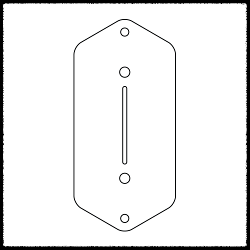 Bass VI Blade Switch Plate