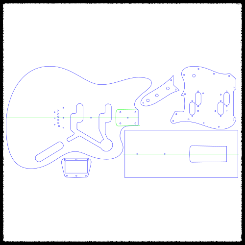 Electric XII Guitar Routing Templates