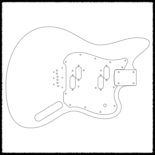 electric xii guitar routing templates faction guitars 12 String Stratocaster