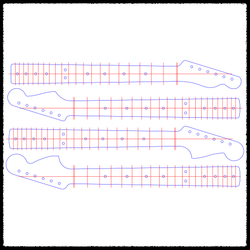 Guitar Neck Routing Templates