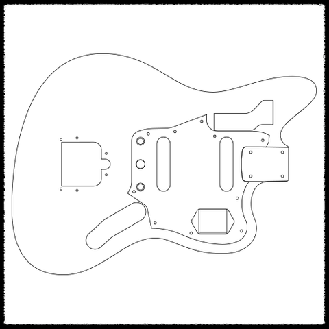 Jaguar guitar routing templates faction guitars for Fender jazzmaster body template