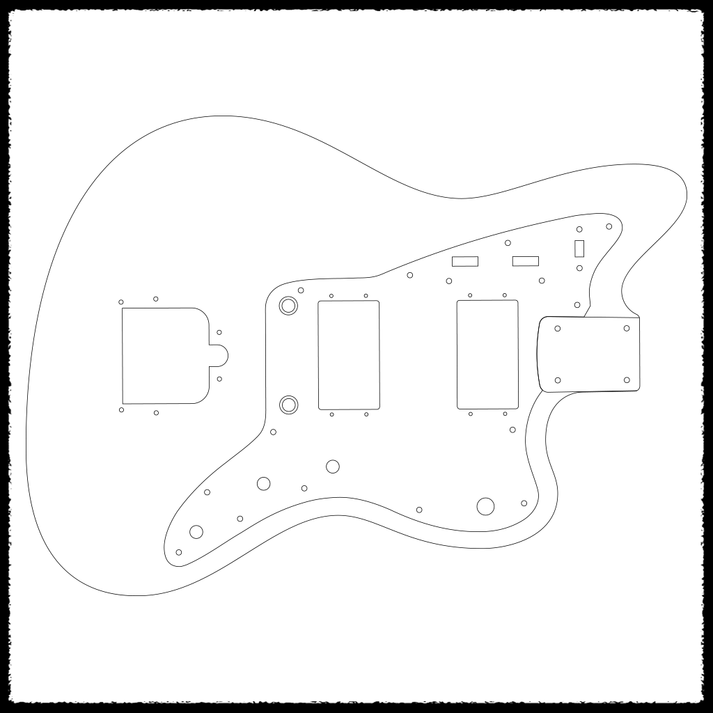 fender jazzmaster body template - jazzblaster guitar routing templates faction guitars