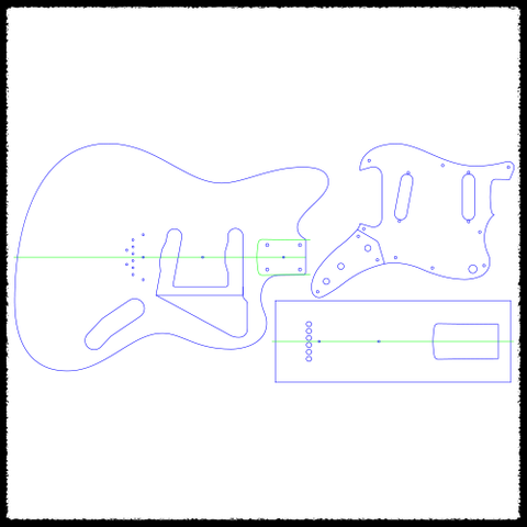 Jazzmaster Hardtail Guitar Routing Templates