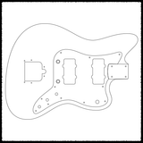 Ventures Jazzmaster Guitar Routing Templates