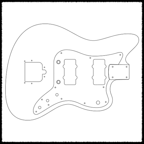 fender jazzmaster body template choice image template design free