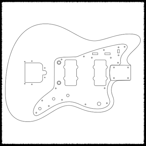 jazzmaster guitar routing templates  u2013 faction guitars