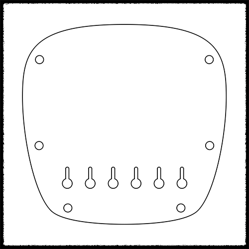 MV Style Hardtail Plate