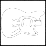 Mustang Guitar Routing Templates