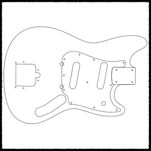 Beaufiful Electric Guitar Body Templates Images Gallery Desiging