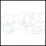 Precision Bass Guitar Routing Templates