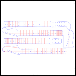 Specialty Guitar Neck Routing Templates