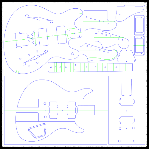 Starcaster Guitar Routing Templates