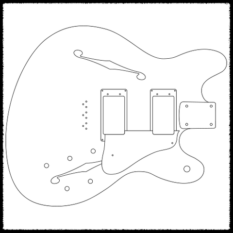 Humbucker Routing Template on fender telecaster bridge