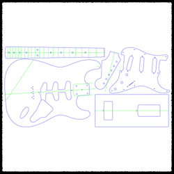 Stratocaster (Hardtail) Guitar Routing Templates