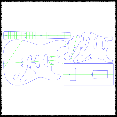 Stratocaster Hardtail Guitar Routing Templates Faction Guitars