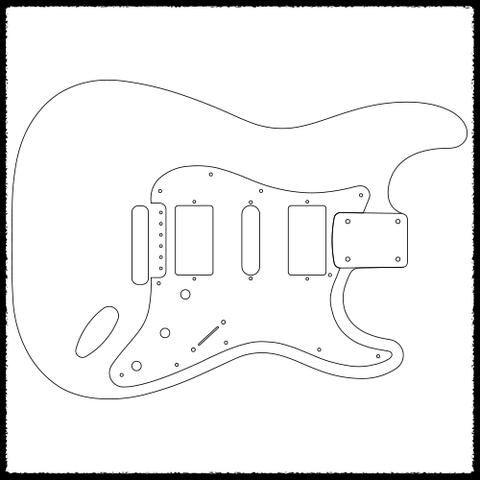 Guitar Template | Stratocaster Vibrato Guitar Routing Templates Faction Guitars