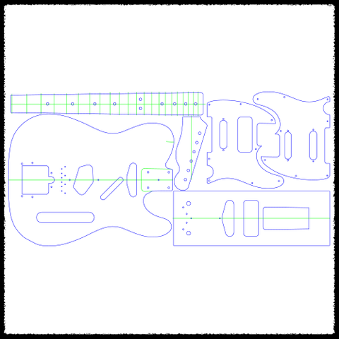 P90 Tele Pickguard Routing Template