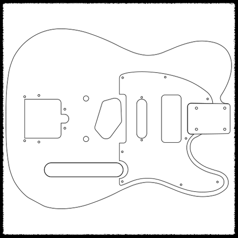 fender jazzmaster body template - telecaster guitar routing templates faction guitars