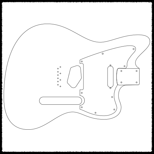 Stratocaster routing template 28 images trem king for Strat neck template