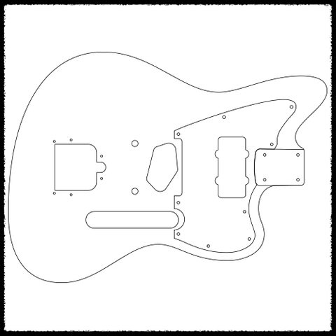 strat neck template - telemaster strat heel guitar routing templates faction