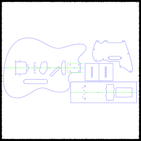 Telemaster (Tele Heel) Guitar Routing Templates