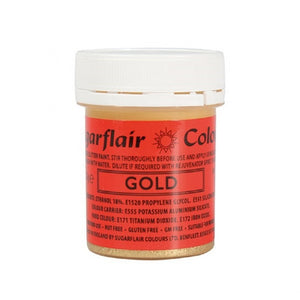 Sugarflair glitter paint gold