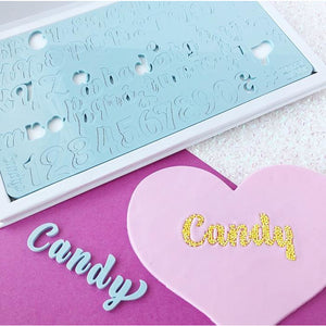 Candy Style Letters upper and lower case embossing set