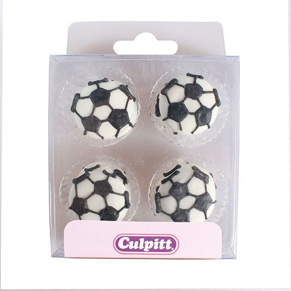 Culpitt 12 Pack Football Sugar Decorations
