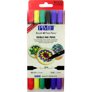 PME Edible Ink Pens - 6 Bold