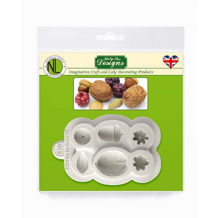 Katy Sue - Nuts & Berries Silicone Mould