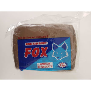 Fox massa marrom chocolate 1kg