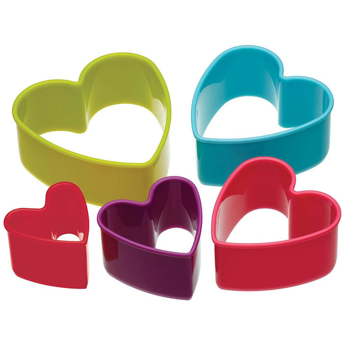 Colour Works - Heart Cookie Cutters - Set of 5