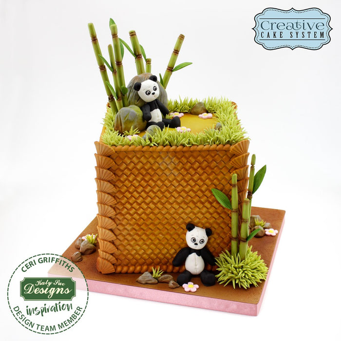 Katy Sue - Continuous Rattan Basket Weave Silicone Mould
