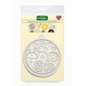 Cogs And Wheels Silicone Mould - Katy Sue Designs