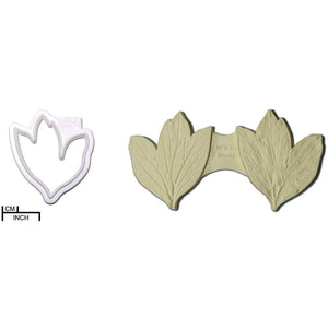 Diamond Mould Peony Leaf Cutter & Veiner