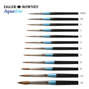 Daler Rowney Aquafine Sable Round Brushes