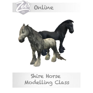 Online Shire Horse Modelling Class