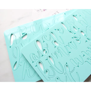 Handwritten style. Letters upper and lower case embossing set