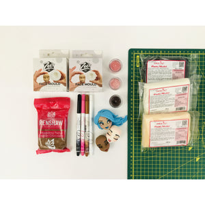 Zoe's Fancy Face making kits (Option 2 - with face moulds and cutting mat)